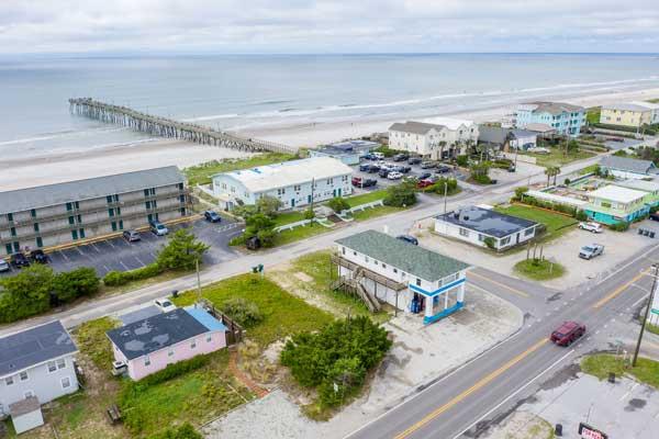 Godwins Market Topsail Beach NC Drone