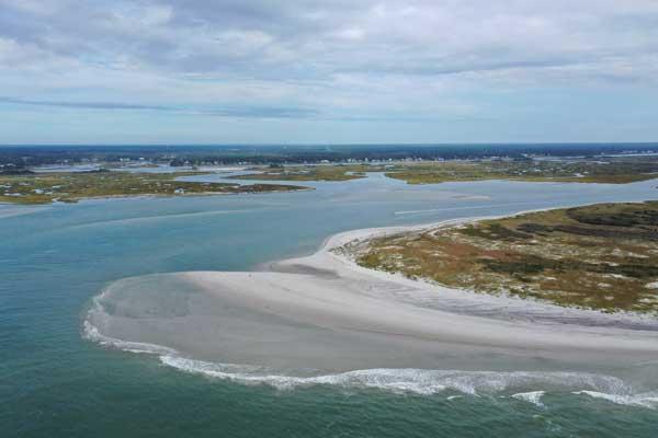Aerial Lea Island Surf City NC