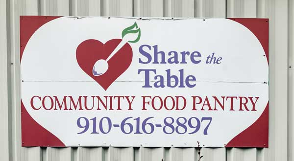 Pender County NC Share The Table Community Food Pantry