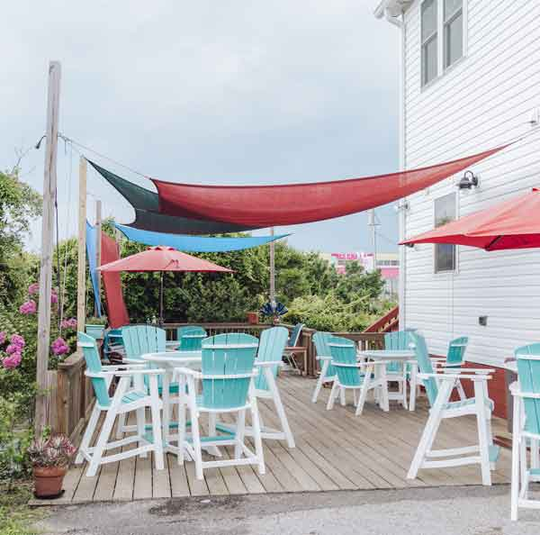 The Second Row Topsail NC Outdoor Seating