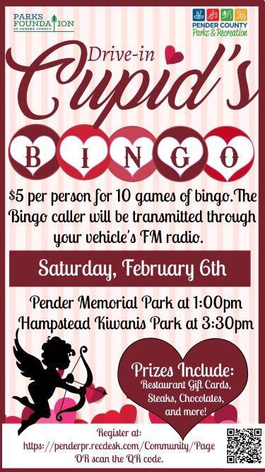 Cupid Bingo Pender County Parks