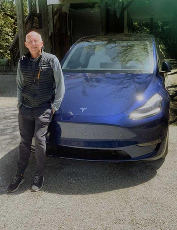 Tesla Man Earth Day
