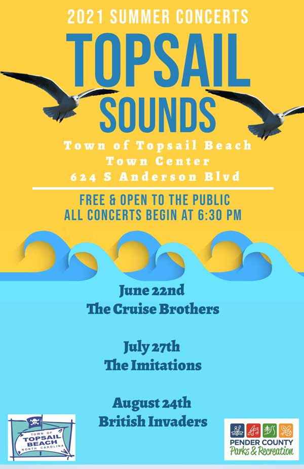 Topsail Sounds NC Concerts 2021