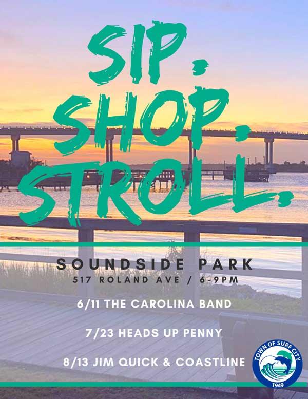 Surf City NC Sip Shop Stroll